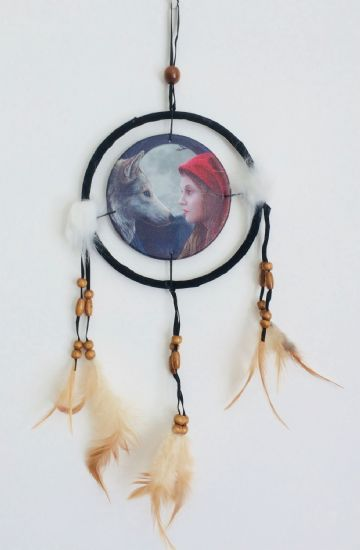 Printed DREAM CATCHER Small Diameter 9cm - Moon Struck